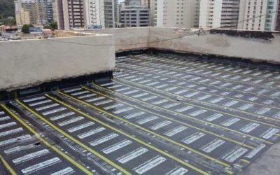 Projeto e execução de impermeabilização de pisos
