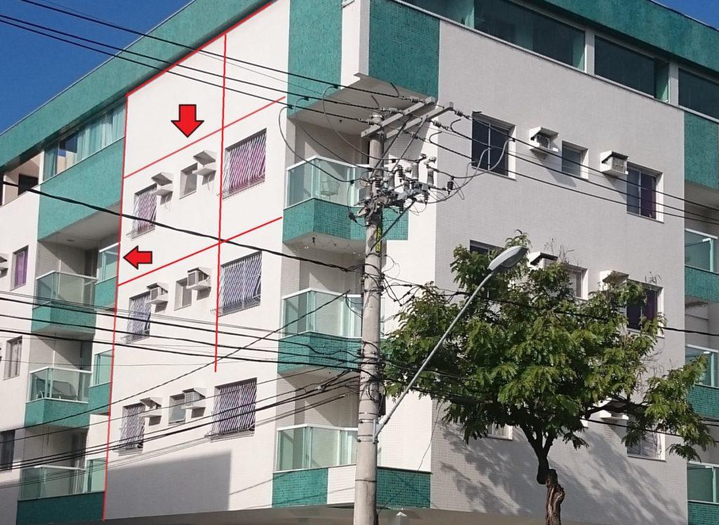Ausência de juntas de movimentação e dessolidarização em fachada