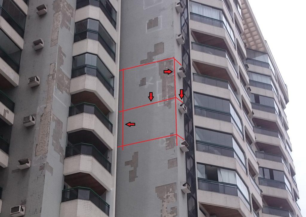 Ausência de juntas de dessolidarização e movimentação em fachadas